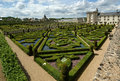 Villandry chateau and its garden, France Royalty Free Stock Images