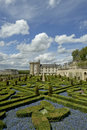 Villandry chateau and its garden, France Stock Photo