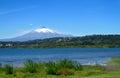 Villarica volcano beautiful view on sunny day Royalty Free Stock Photo