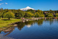 Villarrica volcano viewed from pucon chile Royalty Free Stock Photography
