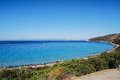 Villasimius sardinia view of beautiful sea of in italy Royalty Free Stock Photos
