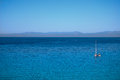 Villasimius sardinia view of sea of Royalty Free Stock Photos