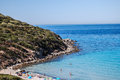 Villasimius view of beautiful sea of in sardinia italy Stock Images