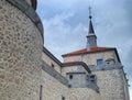 Villaviciosa de odon s castle details of it walls Royalty Free Stock Photos