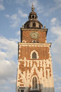 Ville hall tower cracovie Photo libre de droits