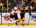 Ville leino and david krejci former philadelphia flyer boston bruins forward Royalty Free Stock Images