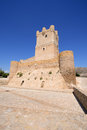 Villena-Schloss in Costa Blanca Alicante Spain. Stockfotos