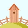 Villiage wooden toilet