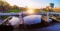 Vilnius bridge through Neris Royalty Free Stock Photo