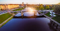 Vilnius bridge through Neris Royalty Free Stock Photo