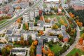 Vilnius city aerial view - Lithuanian capital bird eye view Royalty Free Stock Photo