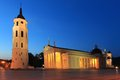Vilnius the historic landmarks in at night lithuania Royalty Free Stock Photography