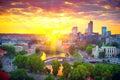 Vilnius, Lithuania. Panorama of Vilnius Royalty Free Stock Photo