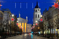 Vilnius at night Stock Image