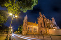 Vilnius night church Royalty Free Stock Photo