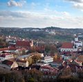 Vilnius old town cityscape Royalty Free Stock Images