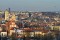 Vilnius old town cityscape winter morning Stock Image