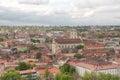 Vilnius panorama bird eye view of city Royalty Free Stock Photography