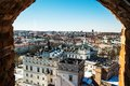 Vilnius view window through from tower Royalty Free Stock Photography
