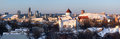 Vilnius at winter panoramic picture of Stock Photos