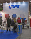 Vilpe finnish company booth visitors visit during rd international forum of building materials and technologies interbudexpo at Royalty Free Stock Photos