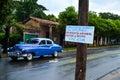 Vinales car, Cuba Royalty Free Stock Photo