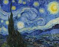 Vincent van Gogh, The Starry Night, 1889 Royalty Free Stock Photo
