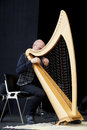 Vincenzo zitello sarzana italy may exhibition live of the italian harpist at the event acoustic guitar meeting may in sarzana Royalty Free Stock Images