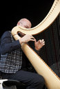 Vincenzo zitello sarzana italy may exhibition live of the italian harpist at the event acoustic guitar meeting may in sarzana Royalty Free Stock Photo