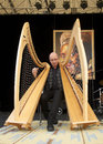 Vincenzo zitello sarzana italy may exhibition live of the italian harpist at the event acoustic guitar meeting may in sarzana Royalty Free Stock Image