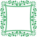 Vine frame silhouette of illustration Royalty Free Stock Photos
