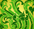 Vine green pattern Royalty Free Stock Images