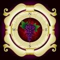 Vine label Royalty Free Stock Image