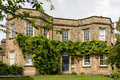 Vine on old stone building, Wells Royalty Free Stock Photo