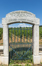 Vineyard entrance of a in baune france Royalty Free Stock Image