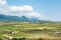 Vineyard valley at rioja, spain Royalty Free Stock Photo