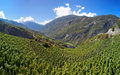 Vineyards in visperterminen switzerland highest vineyards in europe surrounded by s mountains the of Stock Image