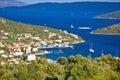 Vinisce village bay sailing destination dalmatia croatia Stock Images