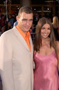 Vinnie jones actor footballer wife at the world premiere in westwood of his new movie gone in seconds Stock Photos
