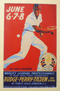 Vintage 1941 tennis poster for tournament played on June 6-8, 1941 in Forrest Hills Royalty Free Stock Image
