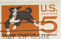 Vintage 1964 Stamp Humane Treatment of Animals Royalty Free Stock Image