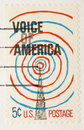 Vintage 1967 Stamp Voice of America Royalty Free Stock Photography