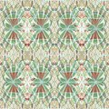 Vintage abstract background tile with floral motif in soft pastel colors