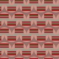 Vintage abstract red grey and green circles and rectangles on dusty pink backkground seamless pattern