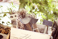 Vintage accesories capture of in box Royalty Free Stock Photo