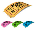 Vintage admit one cinema ticket vector illustration multicolored version Stock Photography