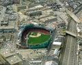 Vintage Aerial Fenway Park, Boston, MA Royalty Free Stock Photo