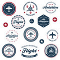 Vintage aeronautics labels Royalty Free Stock Photo