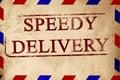 Vintage air mail envelope Royalty Free Stock Photo