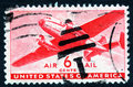 Vintage air mail stamp Royalty Free Stock Images
